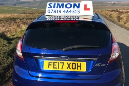Blue fiesta for simons Driving school.
